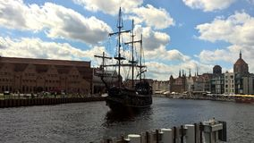 The Black pearl in Gdansk Royalty Free Stock Images