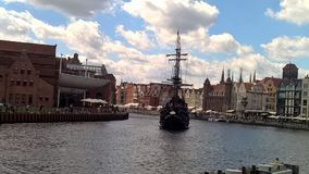 The Black pearl in Gdansk Royalty Free Stock Image