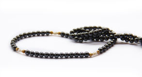 Black Pearl necklace. Royalty Free Stock Images