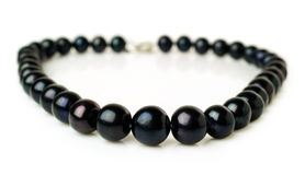 Black pearl necklace Royalty Free Stock Photo