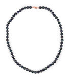 Black pearl necklace. Royalty Free Stock Photo