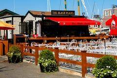 The Black Pearl Restaurant, Newport, RI. The Black Pearl Restaurant in historic, Newport, Rhode Island stock images