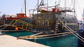 Black Pearl Ship Cruise. The Black Pearl - pirate ship. Ship Cruise Crete Royalty Free Stock Image