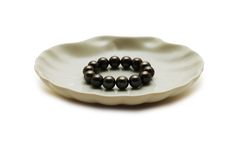Black pearls stock photography