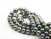 Black pearls chain Stock Photos