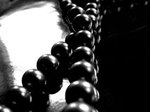 Black pearls jewelry Stock Photography