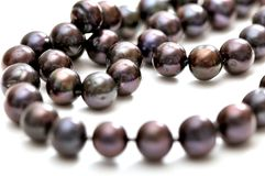 Black pearls necklace Royalty Free Stock Photos
