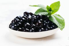 Black pearls of tapioca royalty free stock photography
