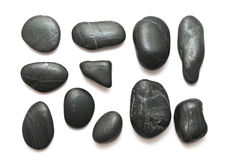 Black pebble stones Royalty Free Stock Photography