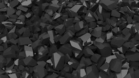 Black pebbles pile Royalty Free Stock Images