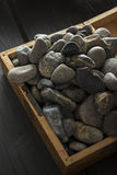 Black pebbles Royalty Free Stock Photo