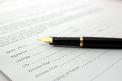 Black pen Stock Photography