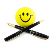 Black pen ink pen Royalty Free Stock Photo