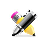 Black pen and pencil vector Stock Images