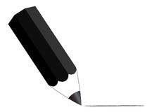 Black pencil Stock Photo