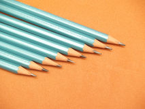 Black pencil. 