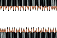 Black pencil isolated on white background Royalty Free Stock Photo