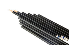 Black pencil isolated on white. Stock Image
