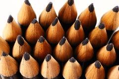Black pencil points. Stock Photo