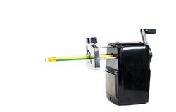 black pencil sharpener machine on white background Stock Image