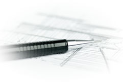 Black pencil on sketch Royalty Free Stock Images