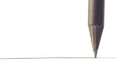 Black pencil with stroke Stock Photos
