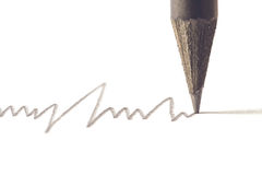 Black pencil with stroke Stock Images
