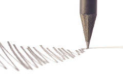 Black pencil with stroke Royalty Free Stock Images