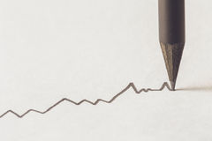 Black pencil with stroke Stock Photography