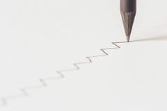 Black pencil with stroke Stock Image