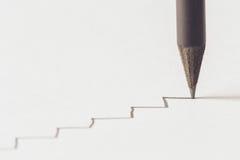 Black pencil with stroke Stock Photo