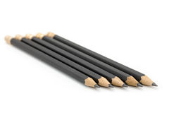 Black Pencil. On the white background, macro shot Stock Photo