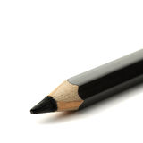 Black pencil on white background Royalty Free Stock Images