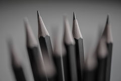 Black Pencils closeup Stock Photography