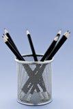 Black Pencils in holder Stock Image