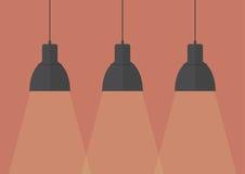 Black pendant lamps Stock Images