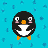 Black penguin cartoon character Royalty Free Stock Images