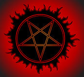 Black Pentagram icon. Star symbol. Vector Illustration Royalty Free Stock Photo