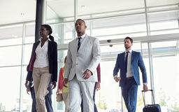 Black people at airport Stock Photography