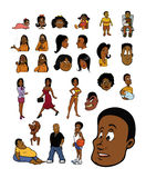 Black people collection Stock Images