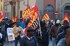 Black people manifesting Royalty Free Stock Images