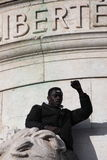 Black people singing Marseillaise in Paris. Stock Image