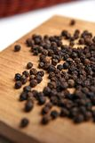 Black pepper. Isolated on white Stock Photo
