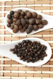 Black pepper and allspice Stock Images