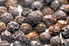 Black pepper balls close up Stock Photos