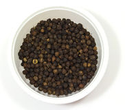 Black pepper in a bowl Royalty Free Stock Photos