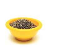 Black Pepper in Bowl Stock Photography