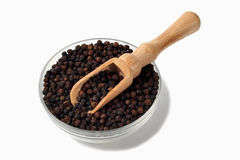 Black pepper in a bowl Royalty Free Stock Photography