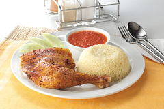 Black Pepper chicken rice Stock Photography