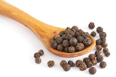 Black pepper corns Stock Photography